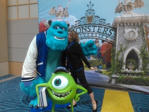 Me with the cast of Monsters University!