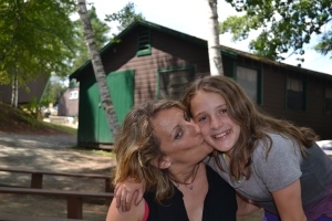 My daughter and me. Visiting Day at camp.