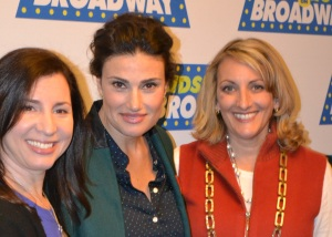 Idina Menzel with Me and Rebecca Levey at the press conference announcing the contest!